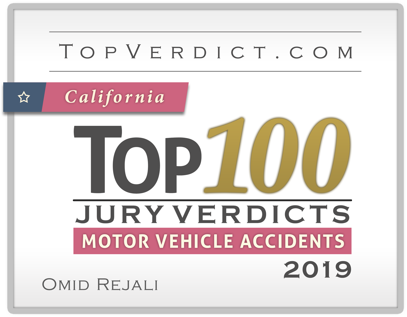Top 100 Motor Vehicle Verdict Award